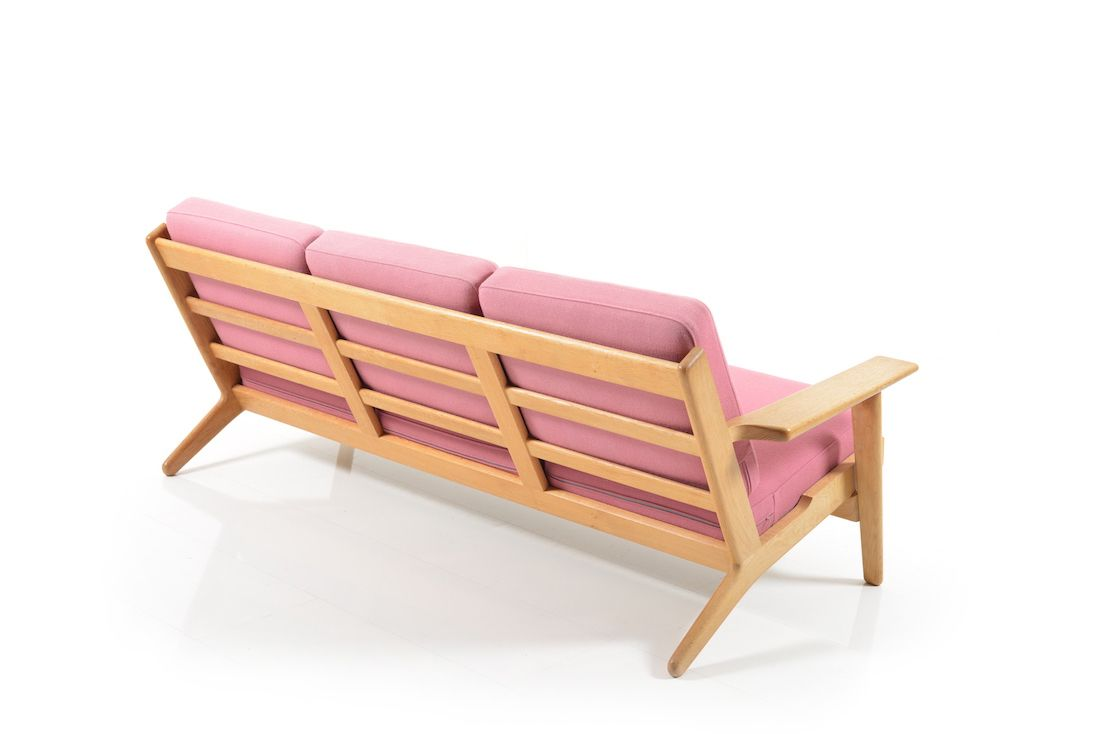 Mid Century Ge 290 3 Oak Sofa By Hans J Wegner For Getama For Sale At Pamono