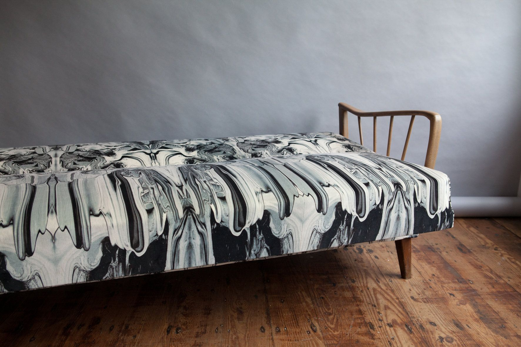 vintage swedish daybed timorous beasties upholstery