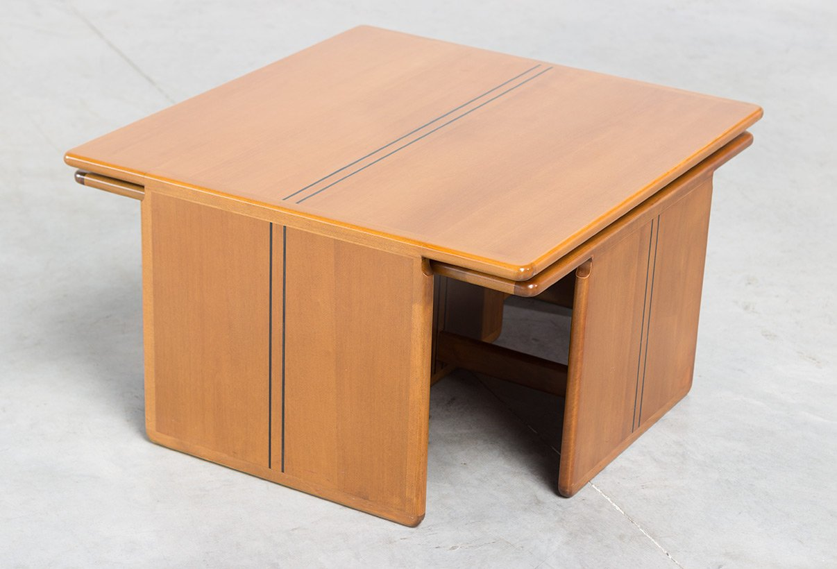 Coffee table with side tables by tobia scarpa and afra scarpa for b b italia 1970s for sale Side and coffee tables