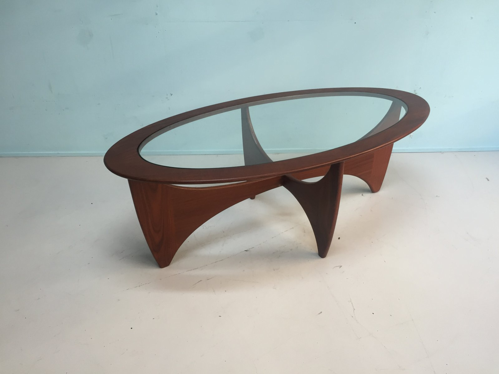 English oval solid teak coffee table from g plan 1960s for sale price per piece geotapseo Gallery