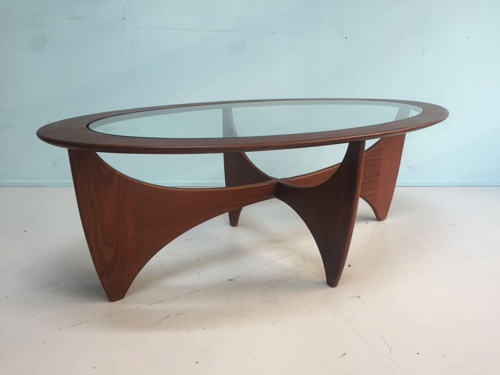 English oval solid teak coffee table from g plan 1960s for sale english oval solid teak coffee table from g plan 1960s geotapseo Gallery