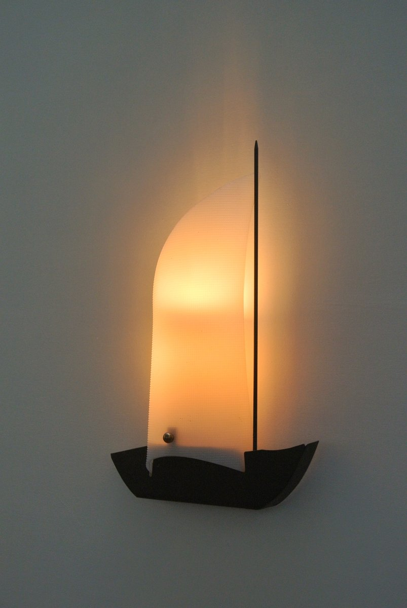 Boat Wall Lights : French Sailing Boat Wall Lights, 1950s, Set of 2 for sale at Pamono