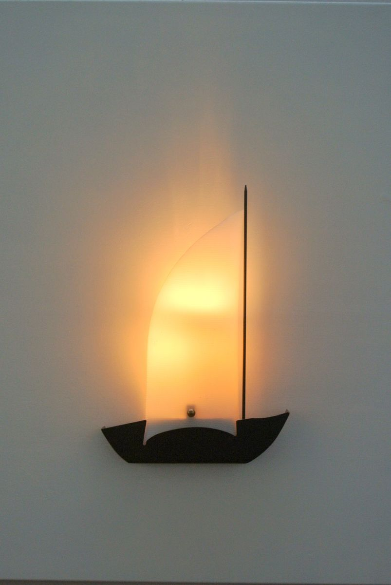 French Sailing Boat Wall Lights, 1950s, Set of 2 for sale at Pamono