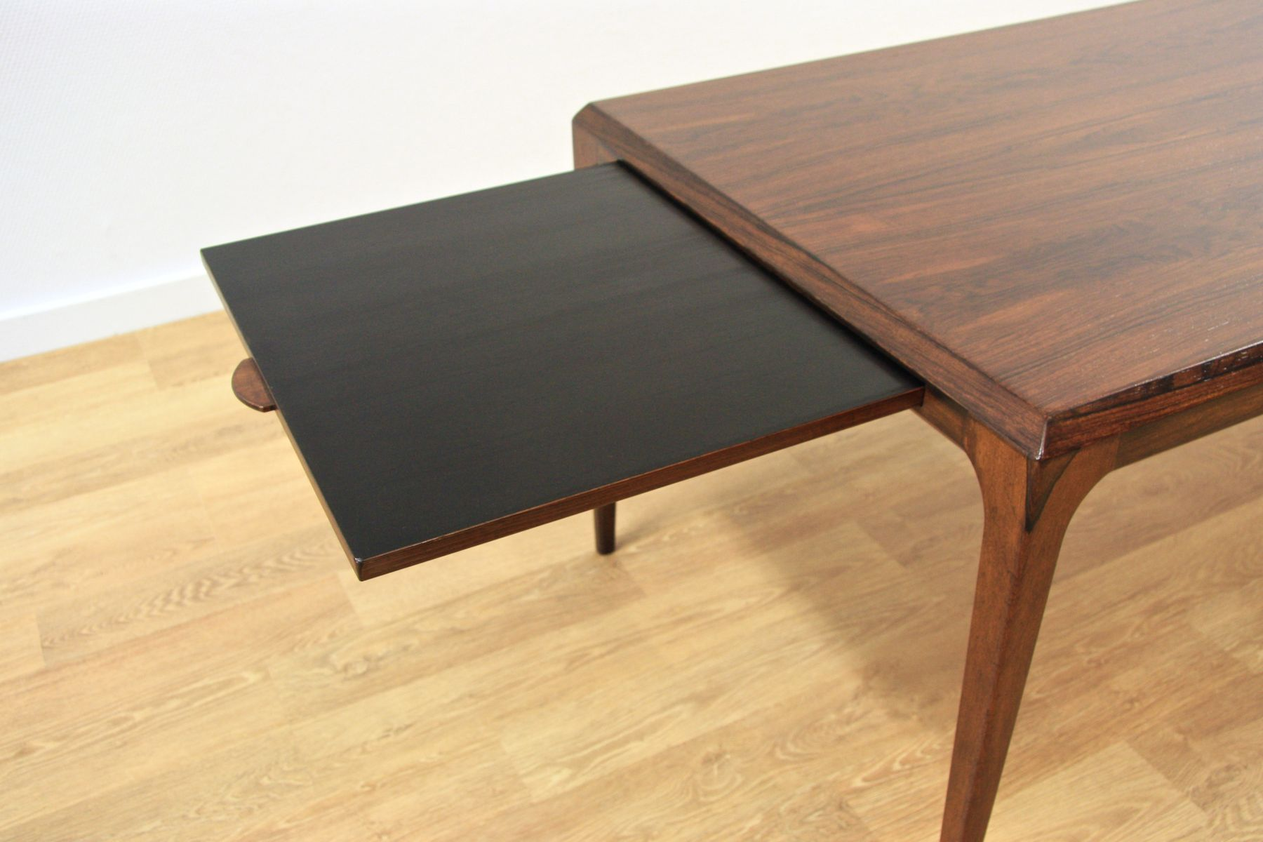 Danish extendable rosewood coffee table by johannes andersen for cfc silkeborg 1960s for sale - Telescopic coffee table ...