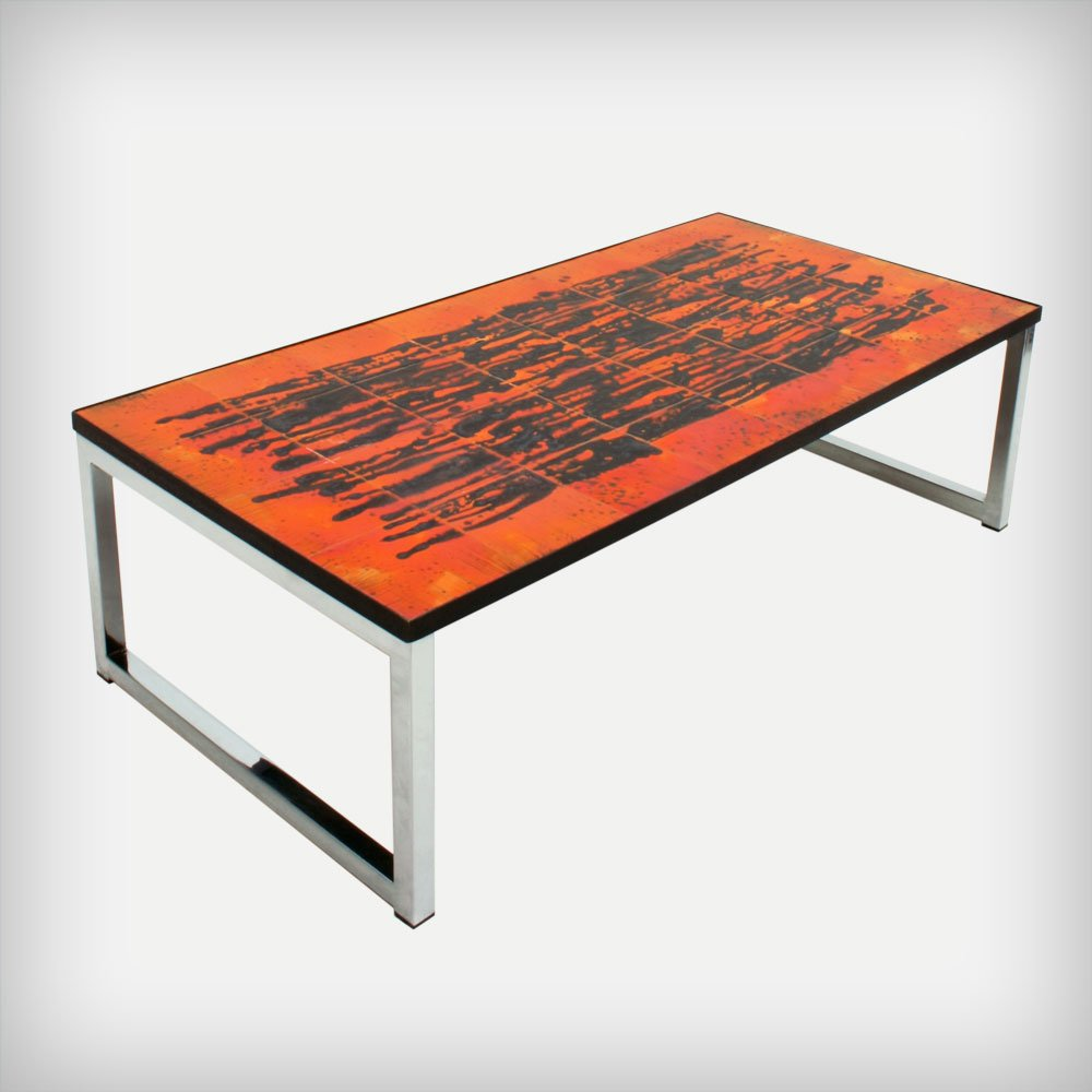 Belgian ceramic chrome coffee table by juliette belarti 1960s belgian ceramic chrome coffee table by juliette belarti 1960s for sale at pamono geotapseo Images
