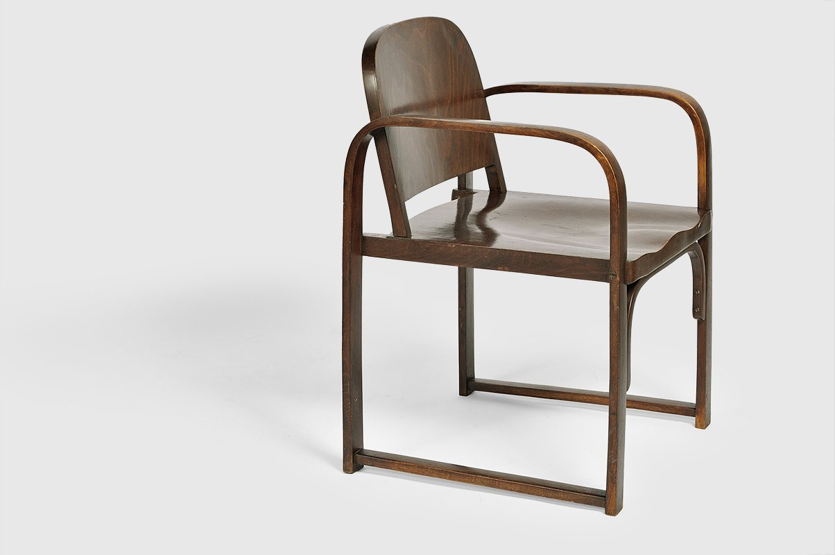 Vintage Model A 745 F Bentwood Chair from Thonet for sale at Pamono