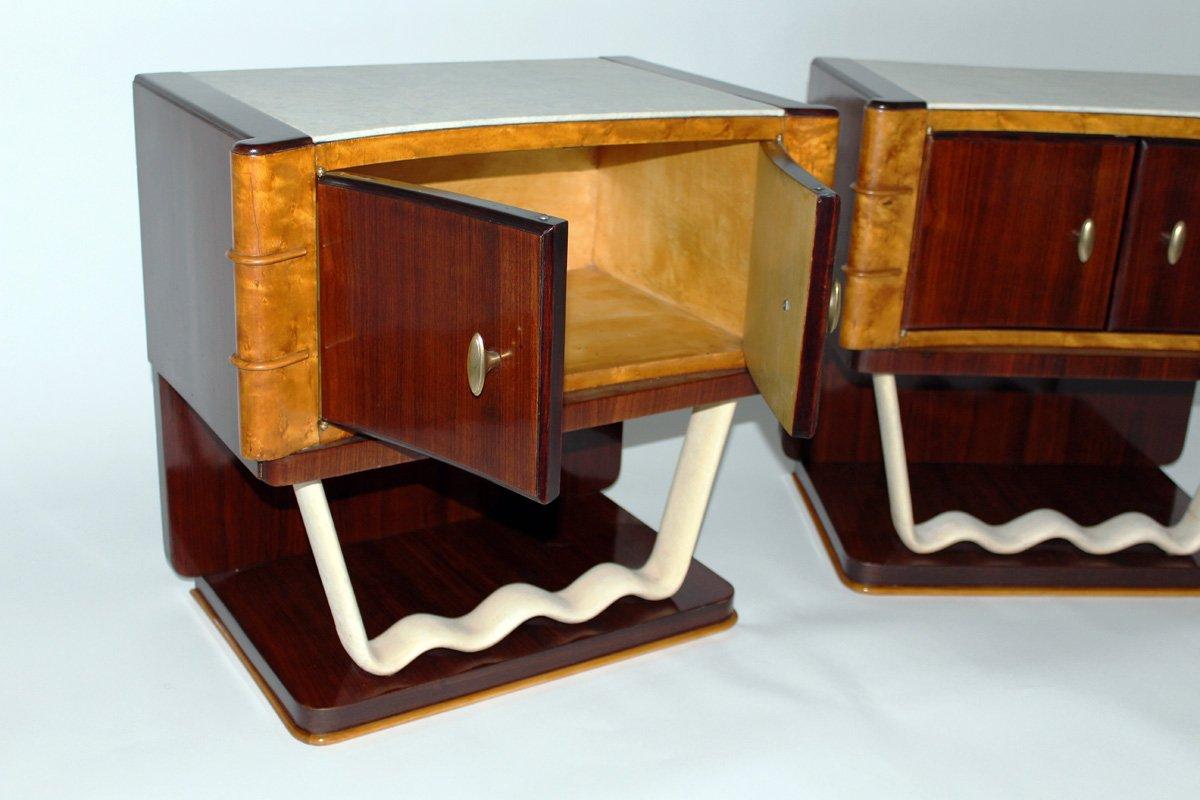 Vintage nachttische von oswaldo borsani f r mobili trieste for Mobilia trieste