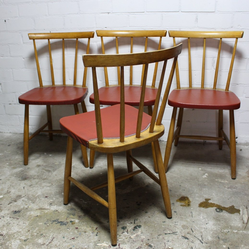 vintage esszimmerst hle 1960er 4er set bei pamono kaufen. Black Bedroom Furniture Sets. Home Design Ideas