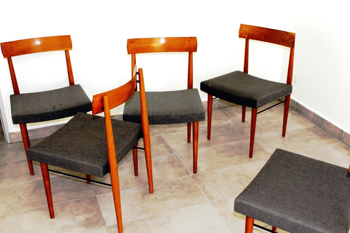 Vintage austrian dining room chairs 1960s set of 6 for sale at pamono - Retro dining room chairs ...