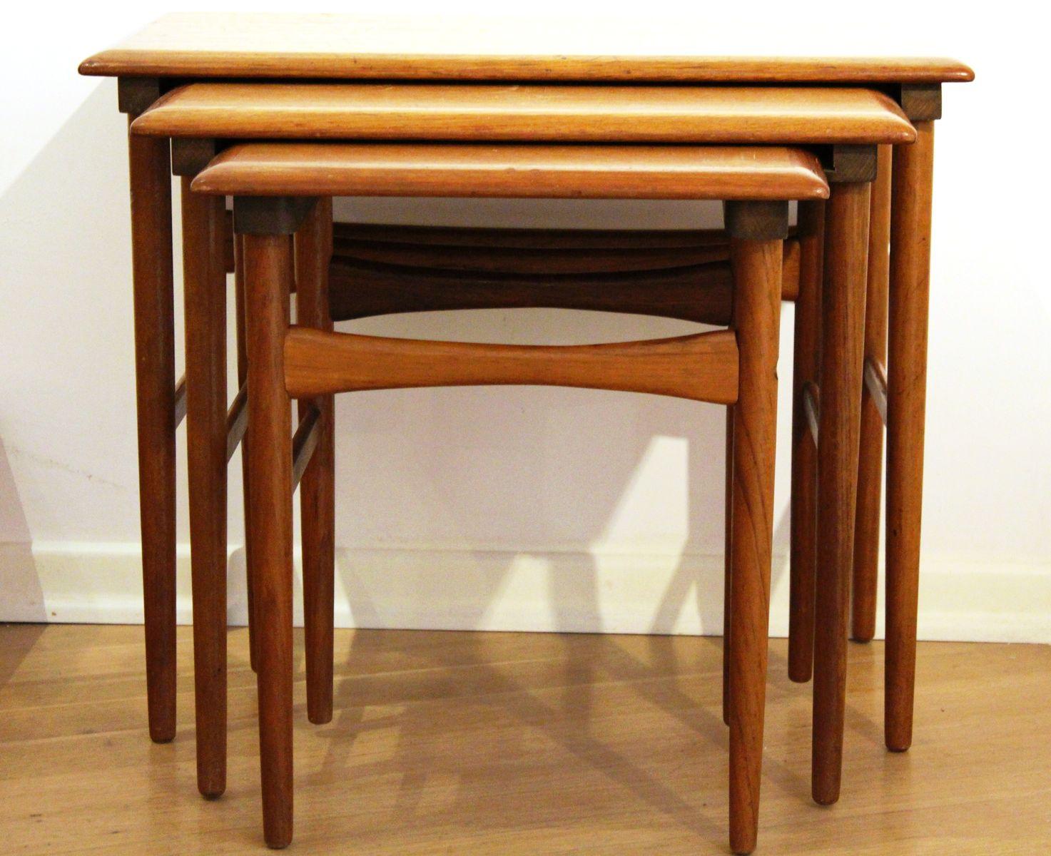 satztische von dyrlund 1960er bei pamono kaufen. Black Bedroom Furniture Sets. Home Design Ideas