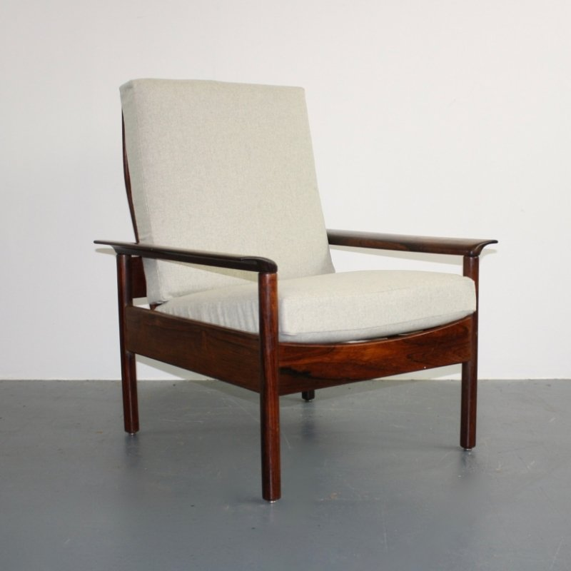Mid Century Rosewood Armchair By Hans Olsen For Sale At Pamono