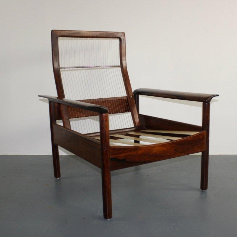 mid century palisander sessel von hans olsen bei pamono kaufen. Black Bedroom Furniture Sets. Home Design Ideas