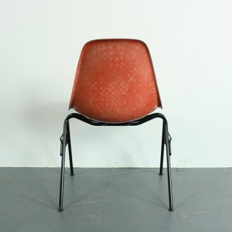 dss stuhl in blutorange von charles ray eames f r herman. Black Bedroom Furniture Sets. Home Design Ideas