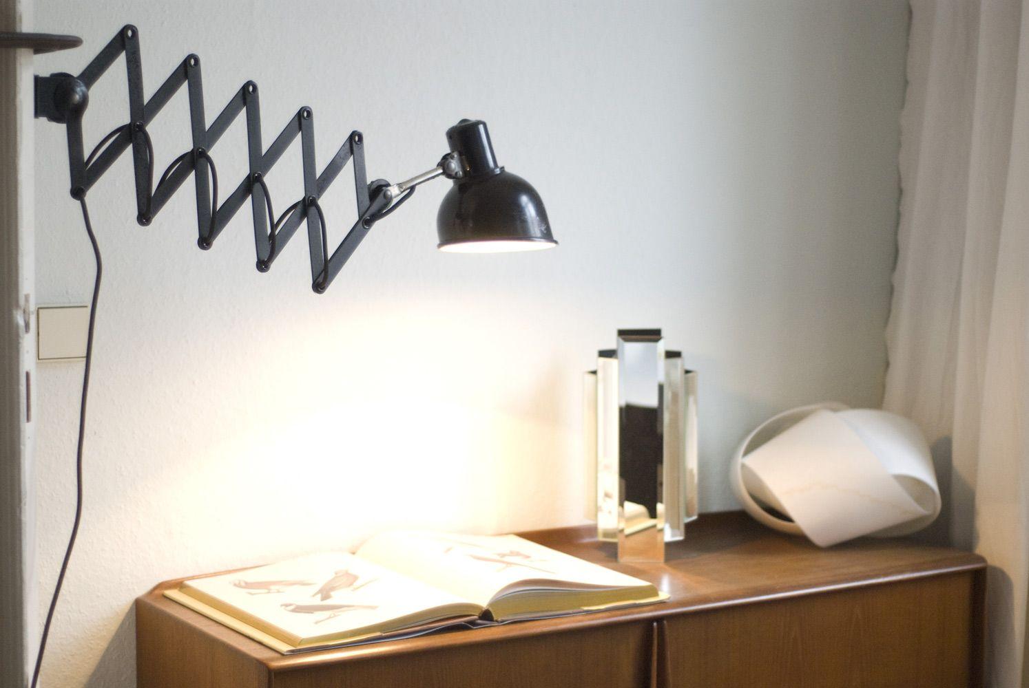 vintage scheren wandlampe mit bakelit leuchte von helion bei pamono kaufen. Black Bedroom Furniture Sets. Home Design Ideas
