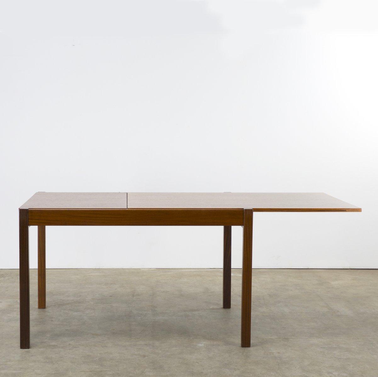 ausziehbarer teakholz esstisch von cees braakman f r pastoe 1960er bei pamono kaufen. Black Bedroom Furniture Sets. Home Design Ideas