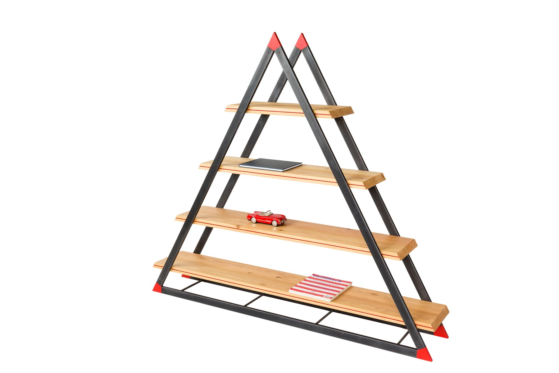 Noon triangular bookcase by dozen design for sale at pamono - Triangular bookshelf ...