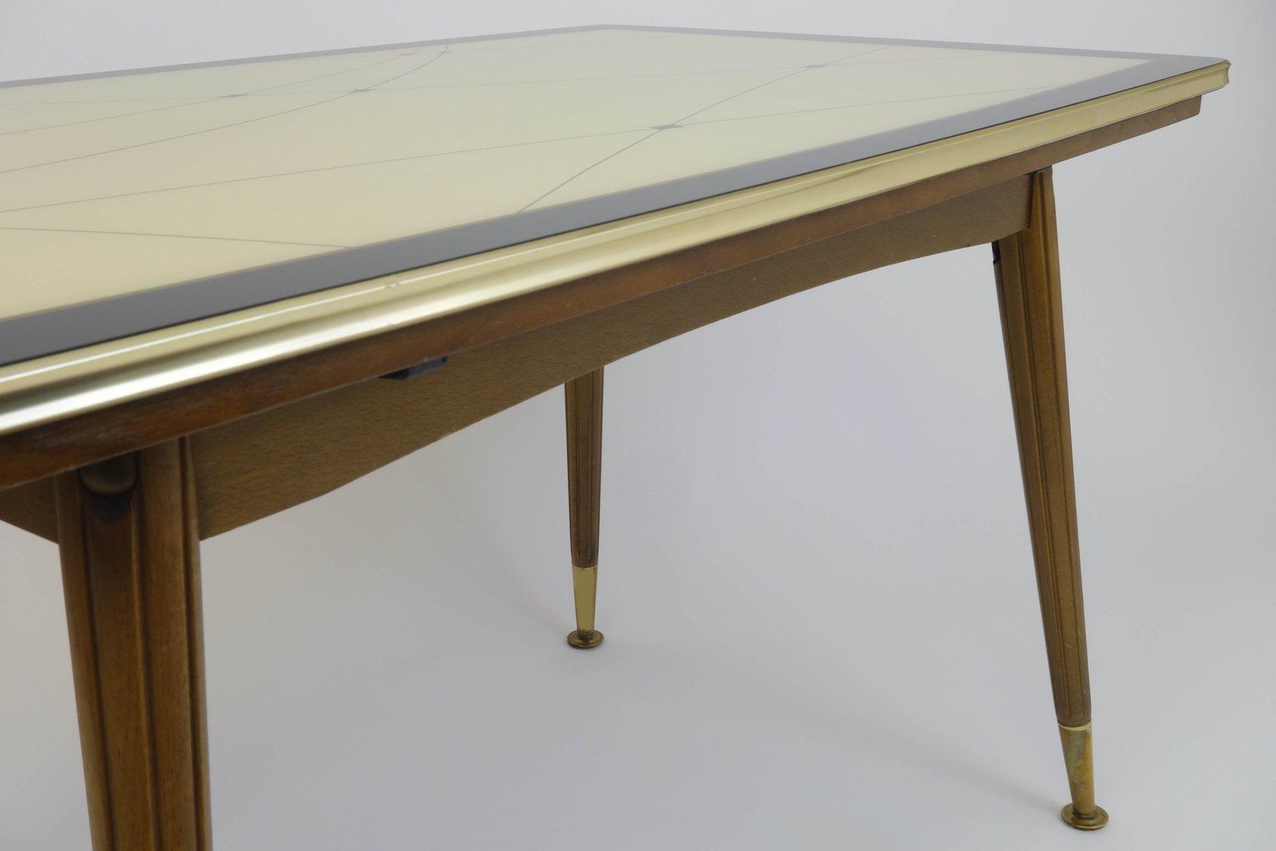 vintage beistelltisch mit glasplatte 1961 bei pamono kaufen. Black Bedroom Furniture Sets. Home Design Ideas