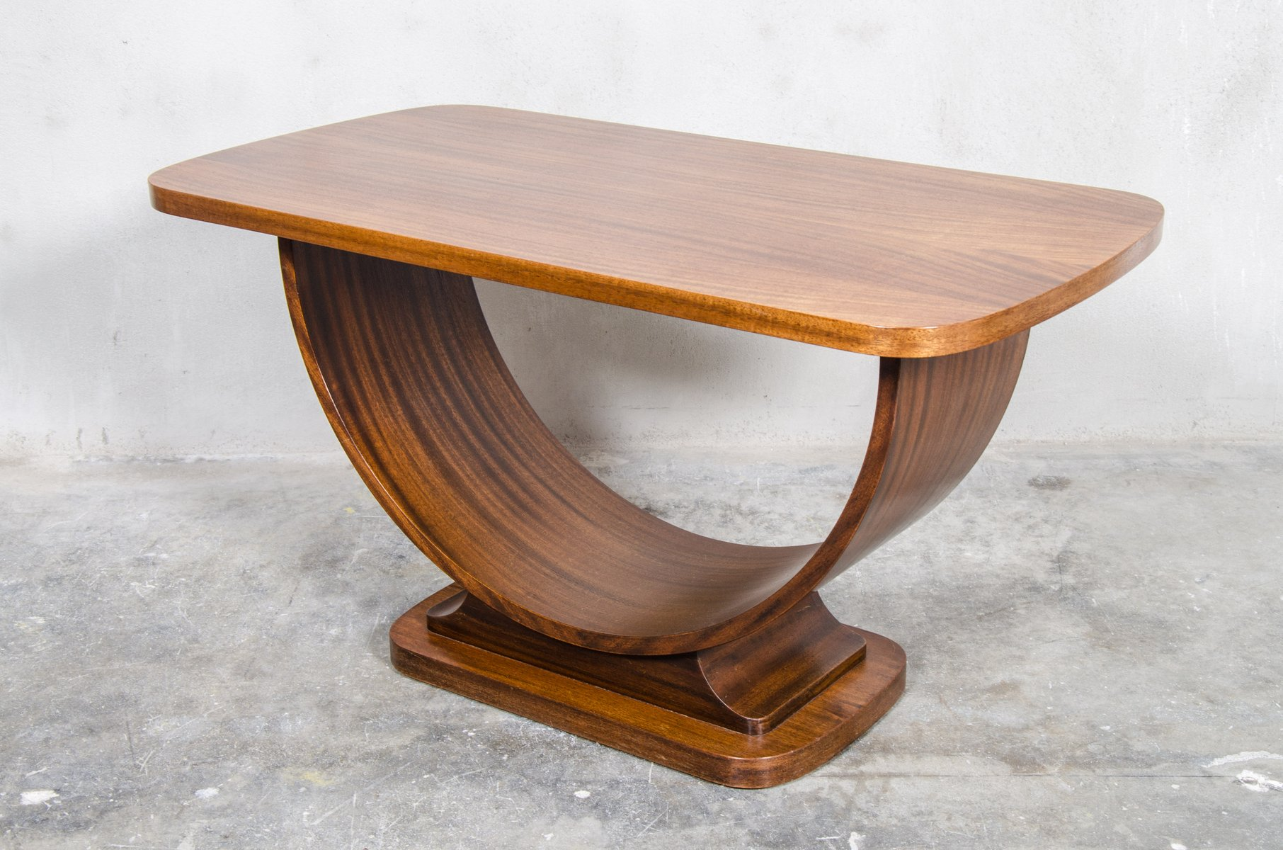 Superior Belgian Teak Art Deco Side Table, 1920s