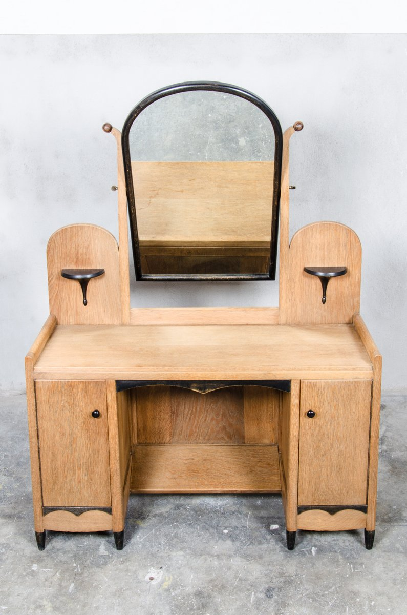Dutch Art Deco Dressing Table with Mirror 1930s for sale at Pamono