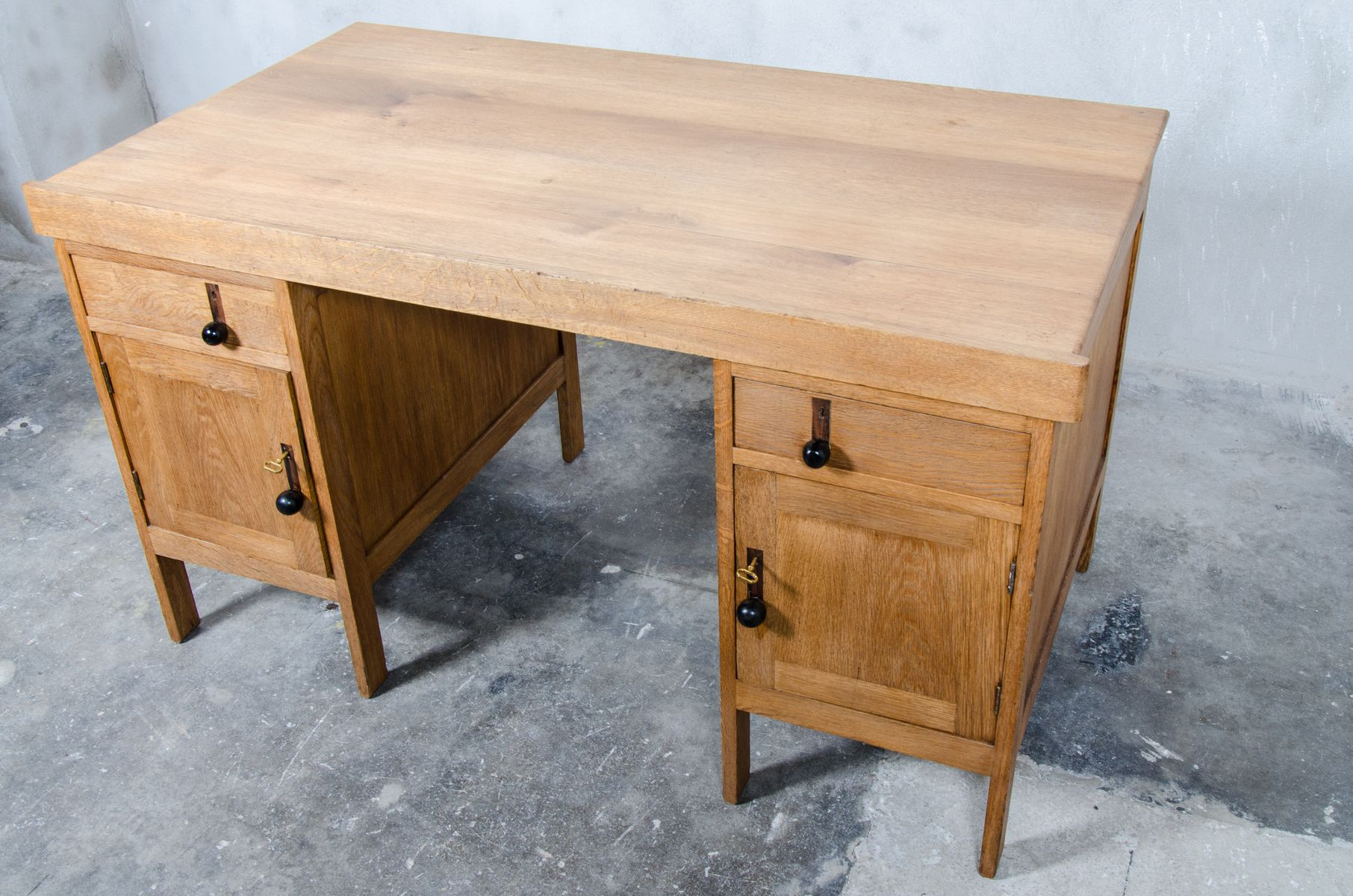 dutch art deco oak desk 1920s for sale at pamono. Black Bedroom Furniture Sets. Home Design Ideas