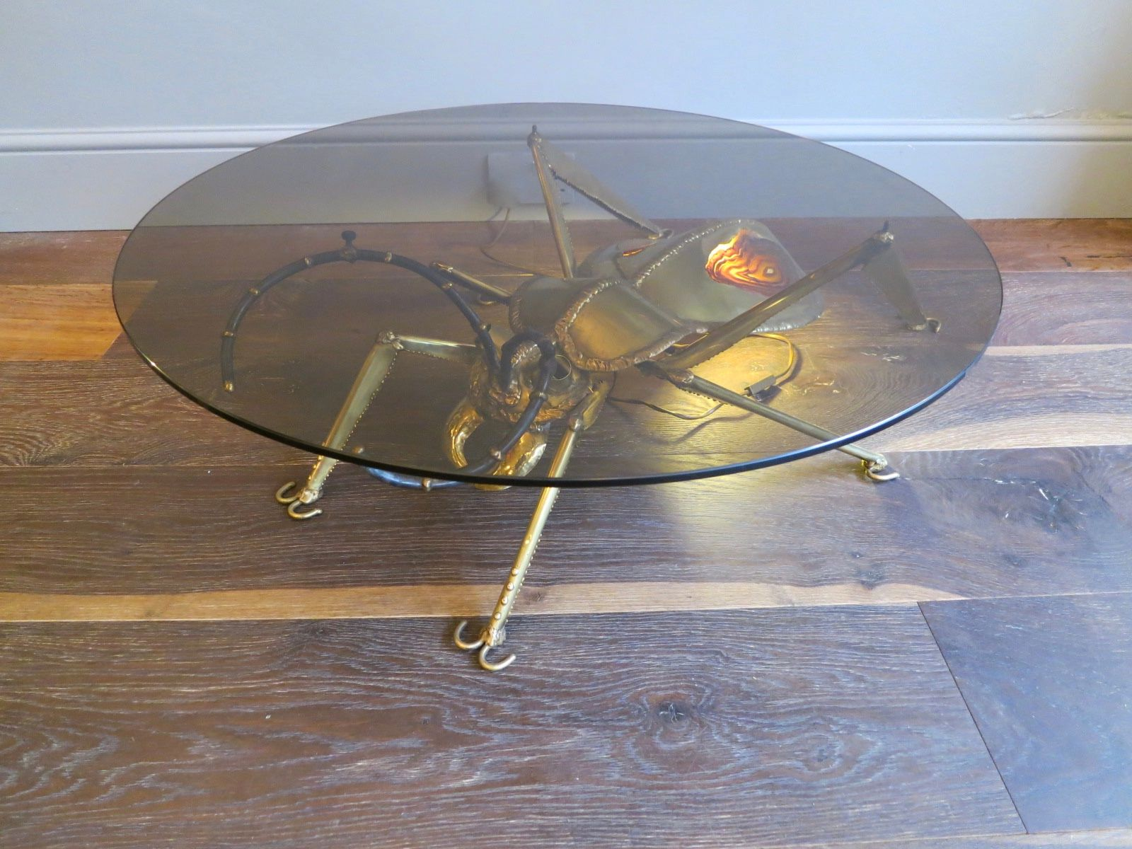 Vintage Brass U0026 Agate Insect Table