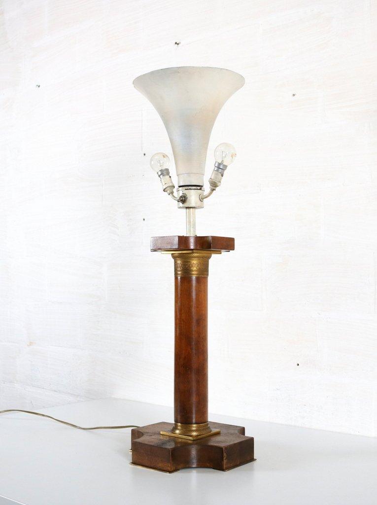vintage art deco lampe mit korinthischer s ule bei pamono. Black Bedroom Furniture Sets. Home Design Ideas
