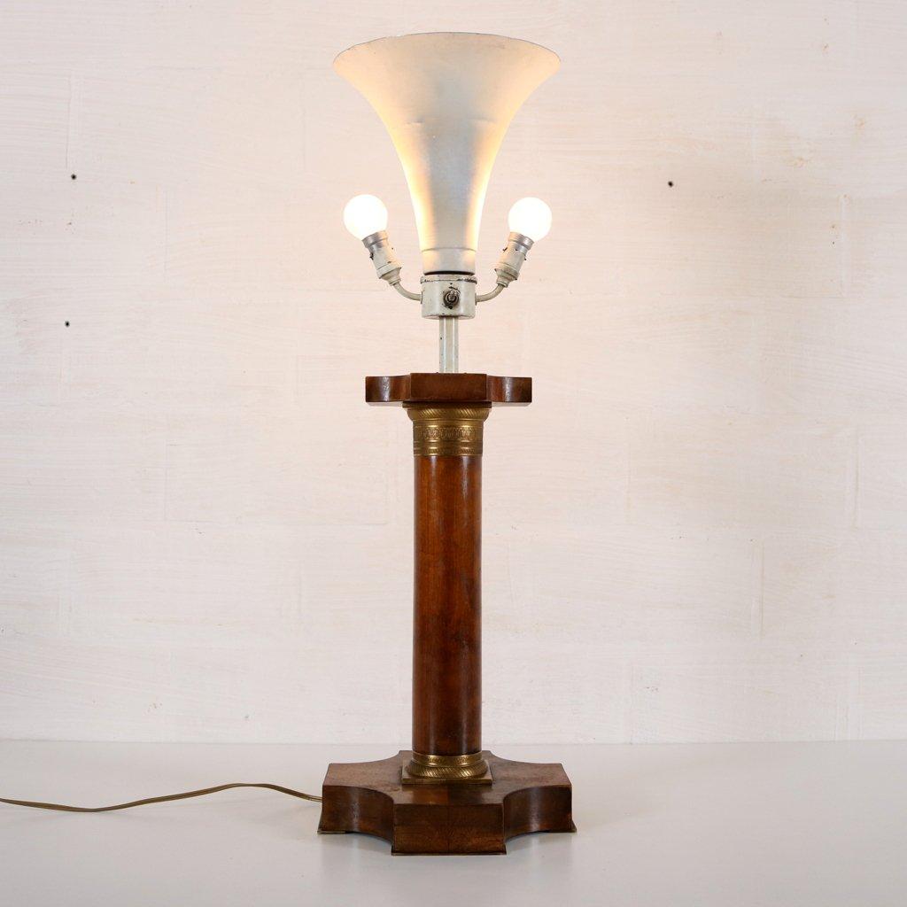 vintage art deco lamp with corinthian pillar for sale at. Black Bedroom Furniture Sets. Home Design Ideas