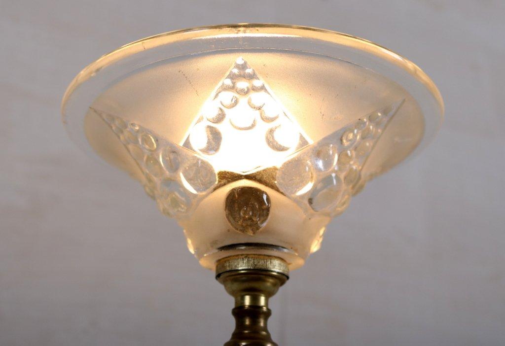 art deco tischlampe aus kupfer glas 1920er bei pamono. Black Bedroom Furniture Sets. Home Design Ideas