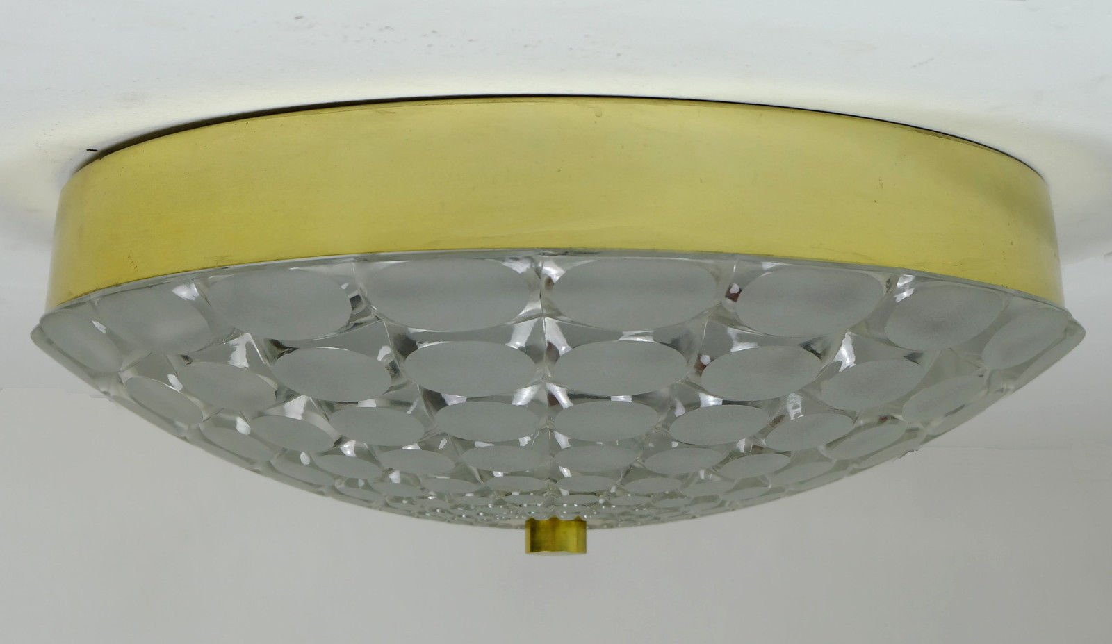Mid century ceiling light with op art relief pattern for for Mid century ceiling lamp