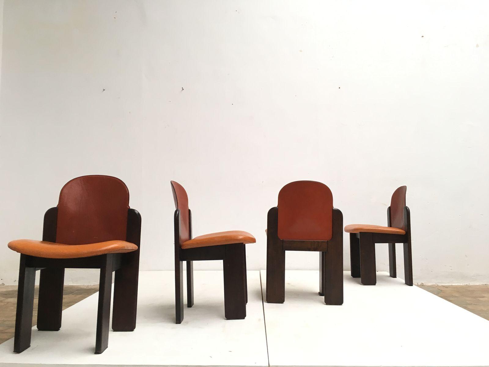 Set de salon en bois massif et en cuir 1970s en vente sur - Salon cuir et bois ...