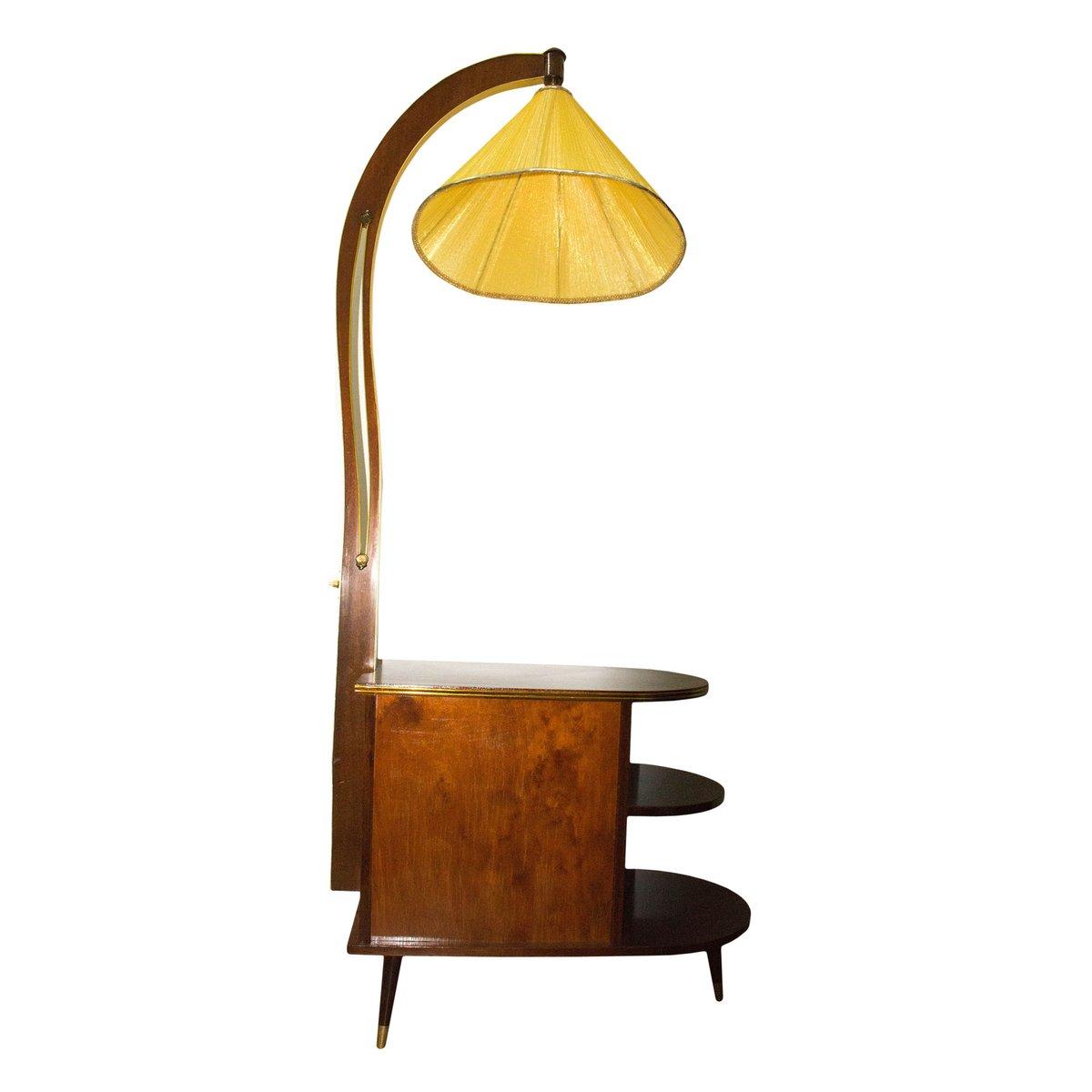 vintage art deco minibar mit lampe bei pamono kaufen. Black Bedroom Furniture Sets. Home Design Ideas