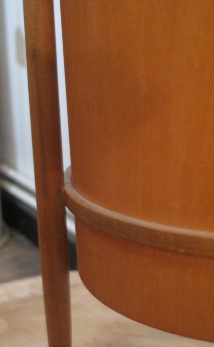 tischlampe mit dreibein und holz furnier 1960er bei. Black Bedroom Furniture Sets. Home Design Ideas