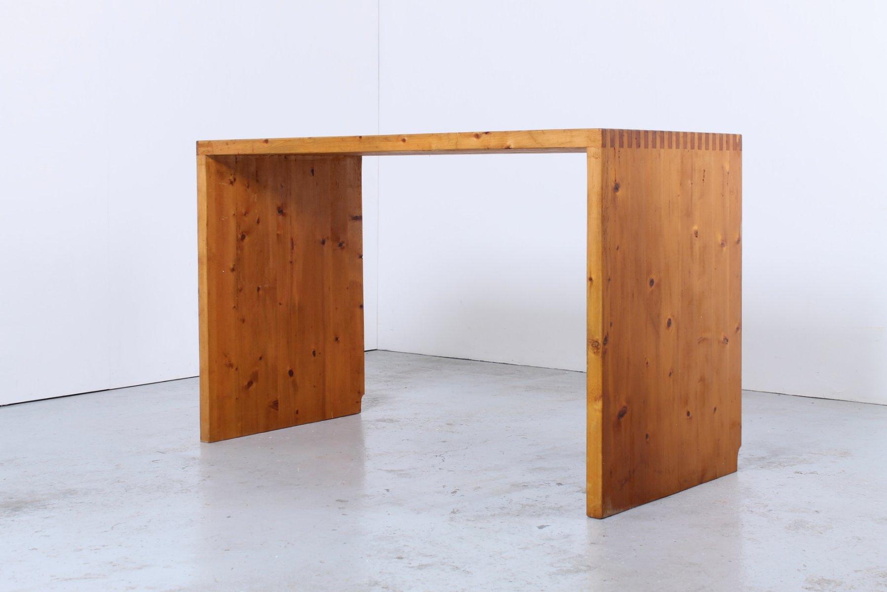 Mid Century Solid Pine Desk By Ate Van Apeldoorn For Houtwerk Hattem At Pamono