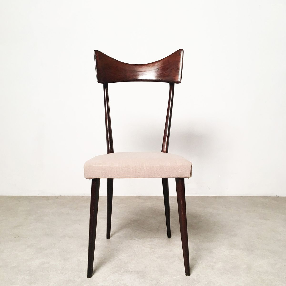 Vintage italian modernist dining chairs set of 6 for sale for Set of 6 dining chairs