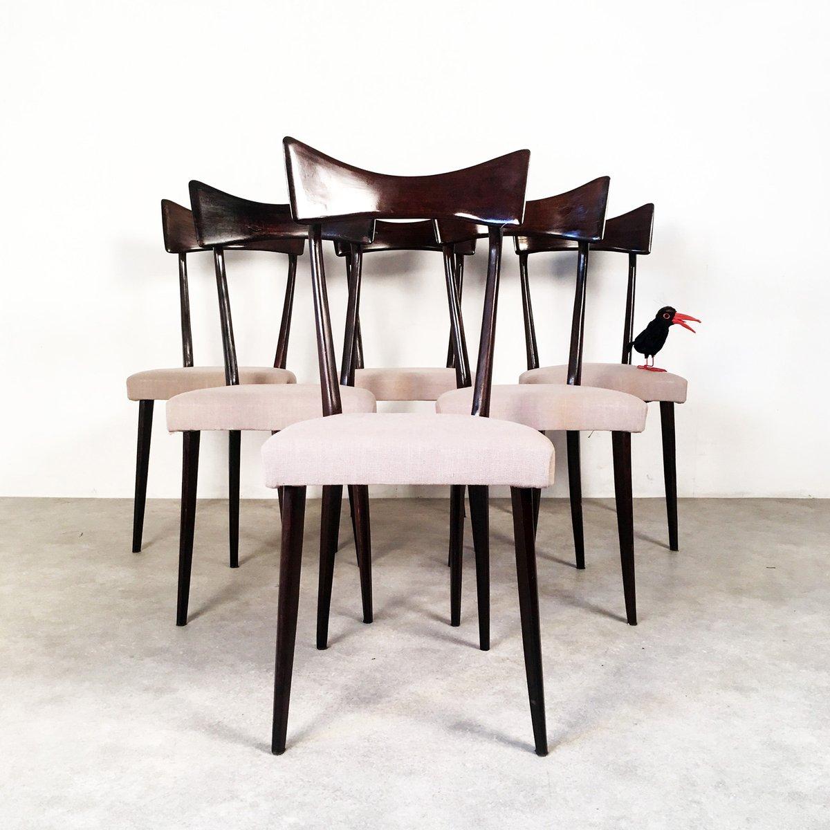 moderne italienische vintage esszimmerst hle 6er set bei. Black Bedroom Furniture Sets. Home Design Ideas