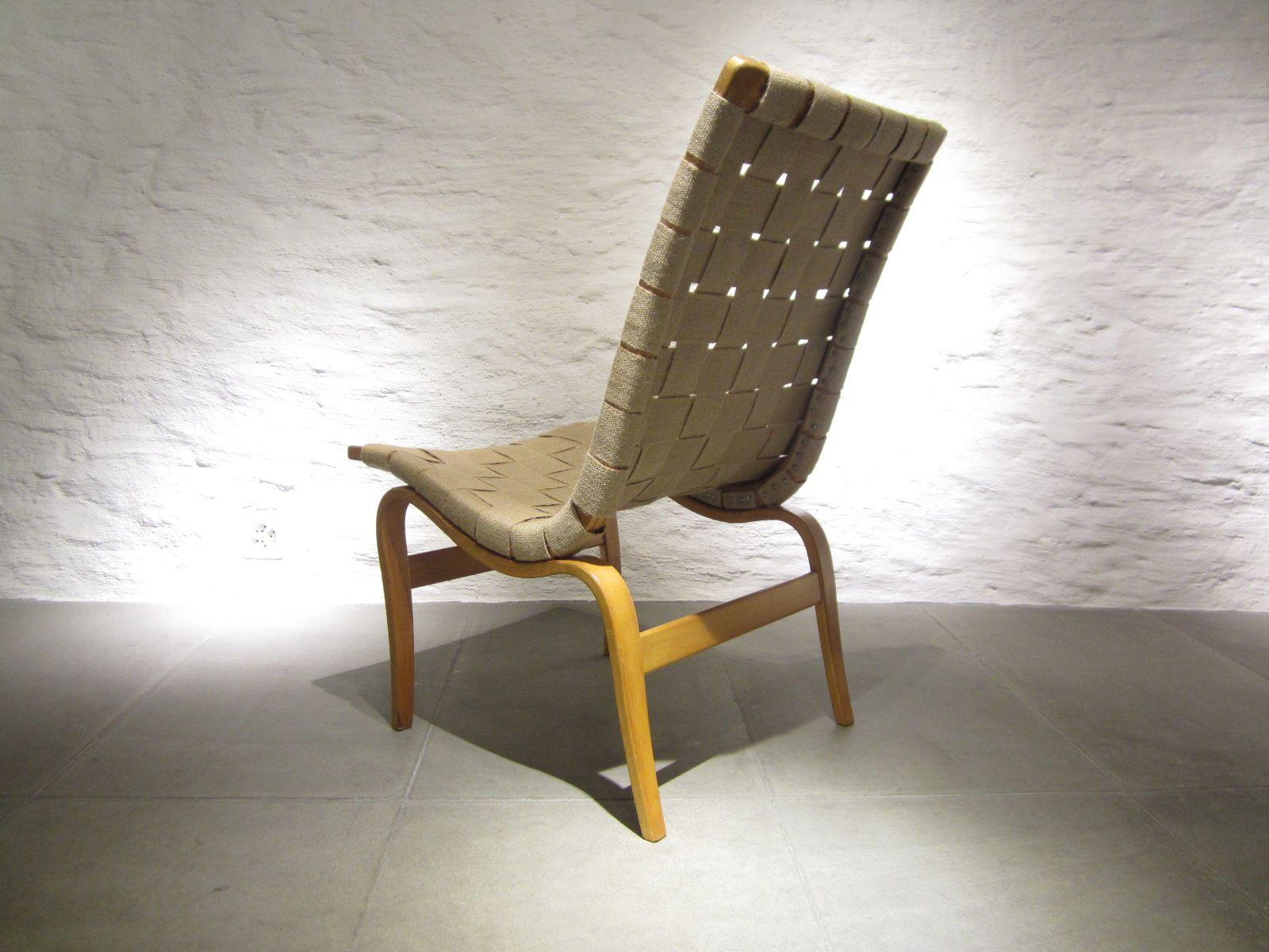 Eva Lounge Chair by Bruno Mathsson for Karl Mathsson 1941 for