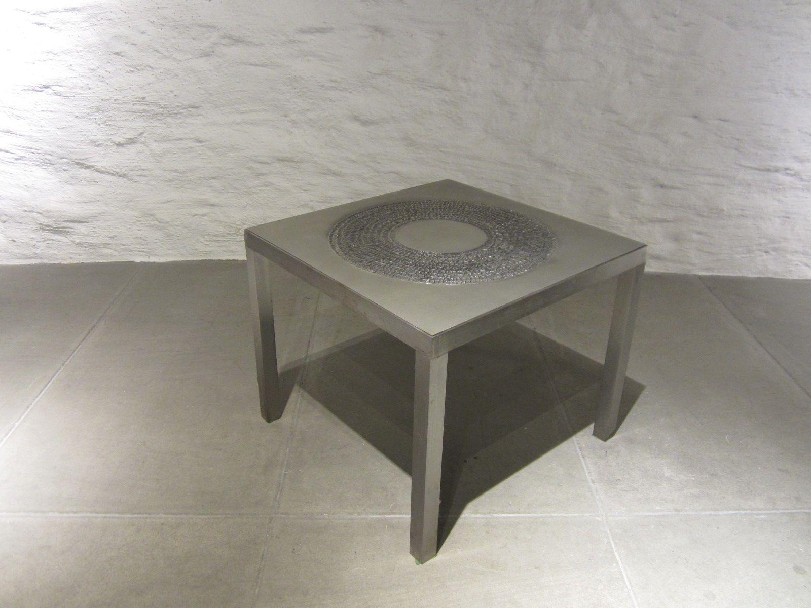 italienischer mid century beistelltisch aus metall bei pamono kaufen. Black Bedroom Furniture Sets. Home Design Ideas