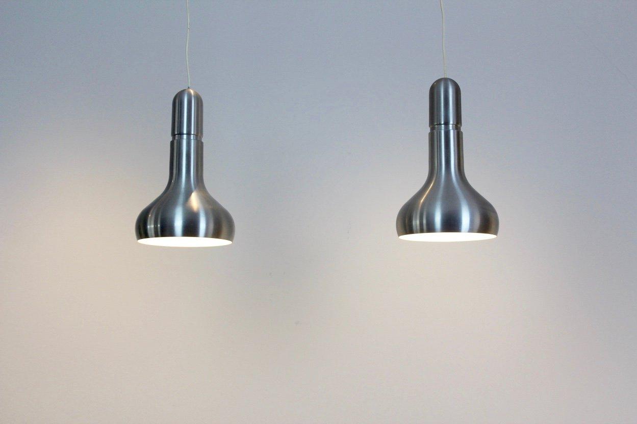 D nische aluminium lampen 1960er 2er set bei pamono kaufen for Lampen niederlande