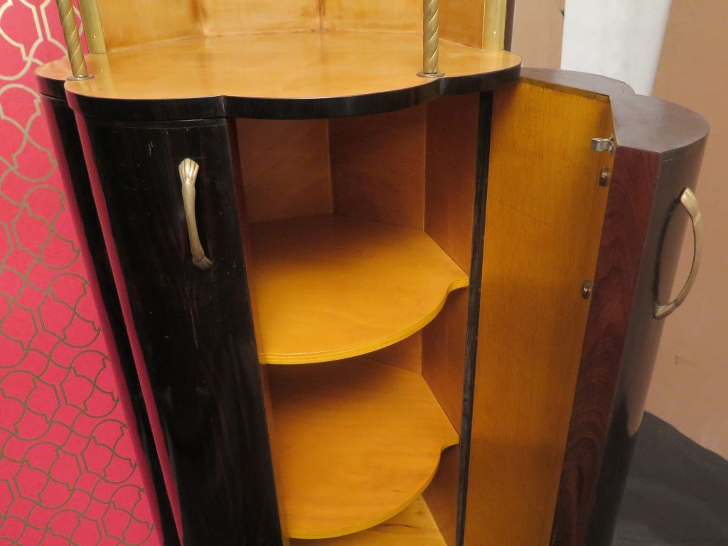 Art deco cabinets 1940s set of 2 for sale at pamono for 1940s kitchen cabinets for sale