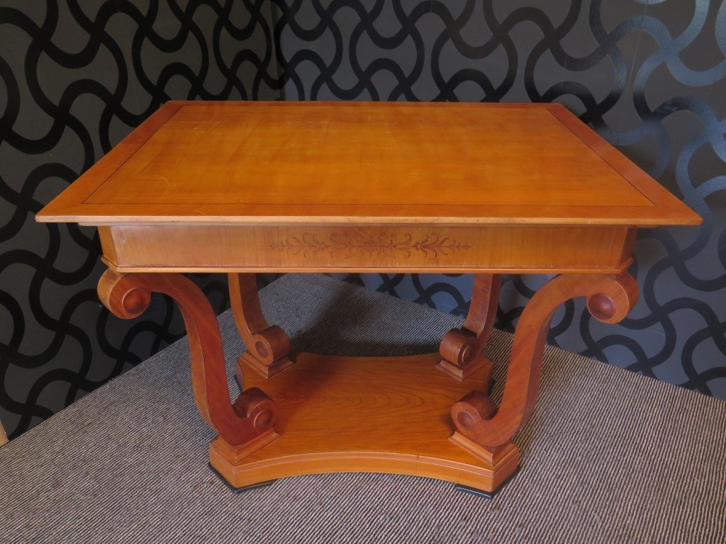 Veneered Coffee Table In Cherry Wood 1900s For Sale At Pamono