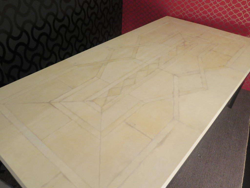 gro er art deco tisch 1940er bei pamono kaufen. Black Bedroom Furniture Sets. Home Design Ideas
