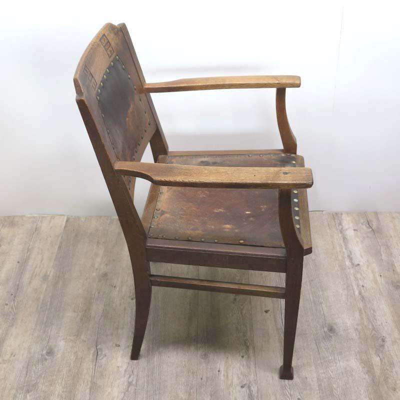 antique art nouveau wooden armchair with for