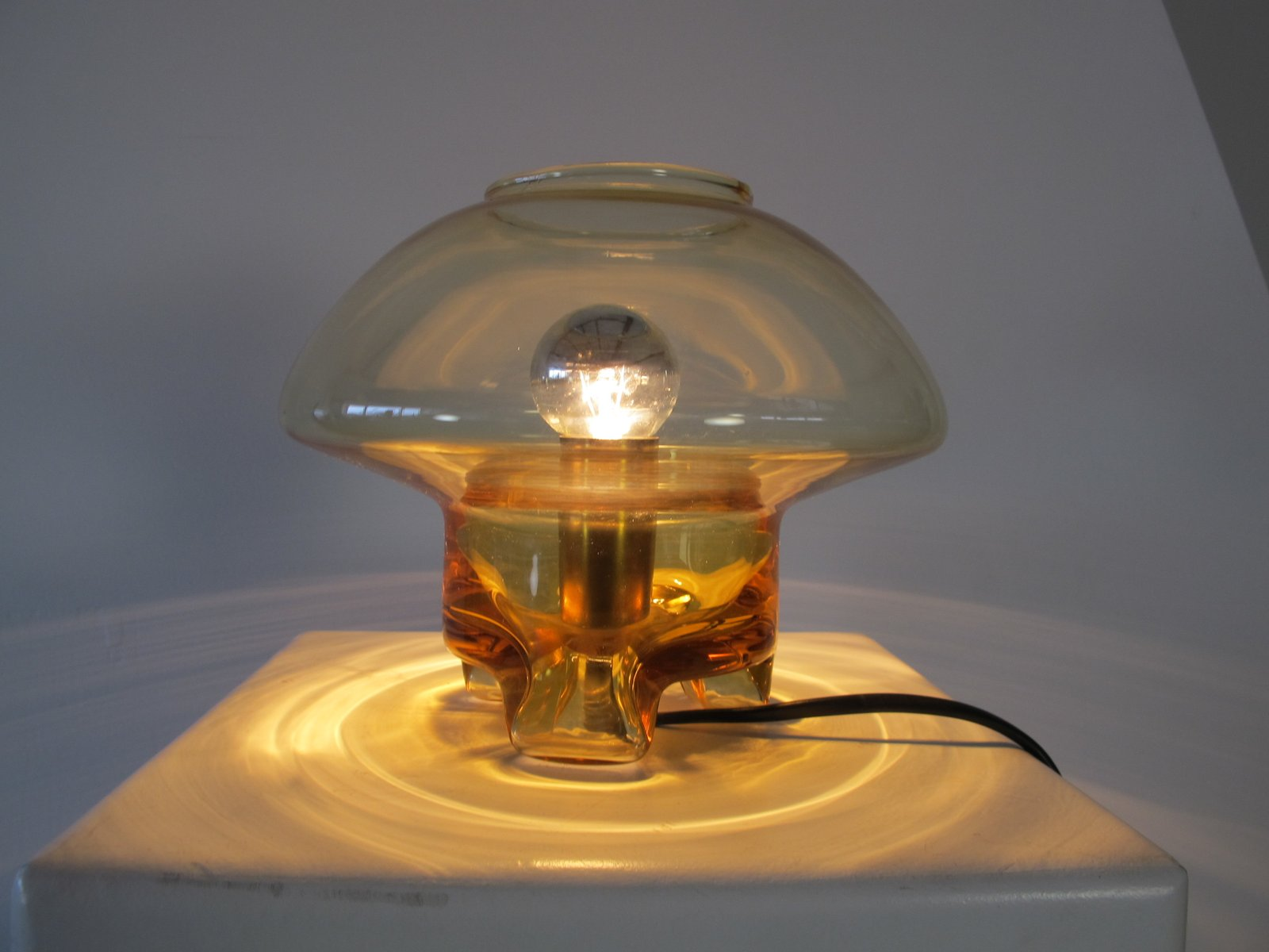 Lampada da tavolo vintage in vetro a forma di fungo di raak anni 39 70 in vendita su pamono - Lampada da tavolo vintage ...