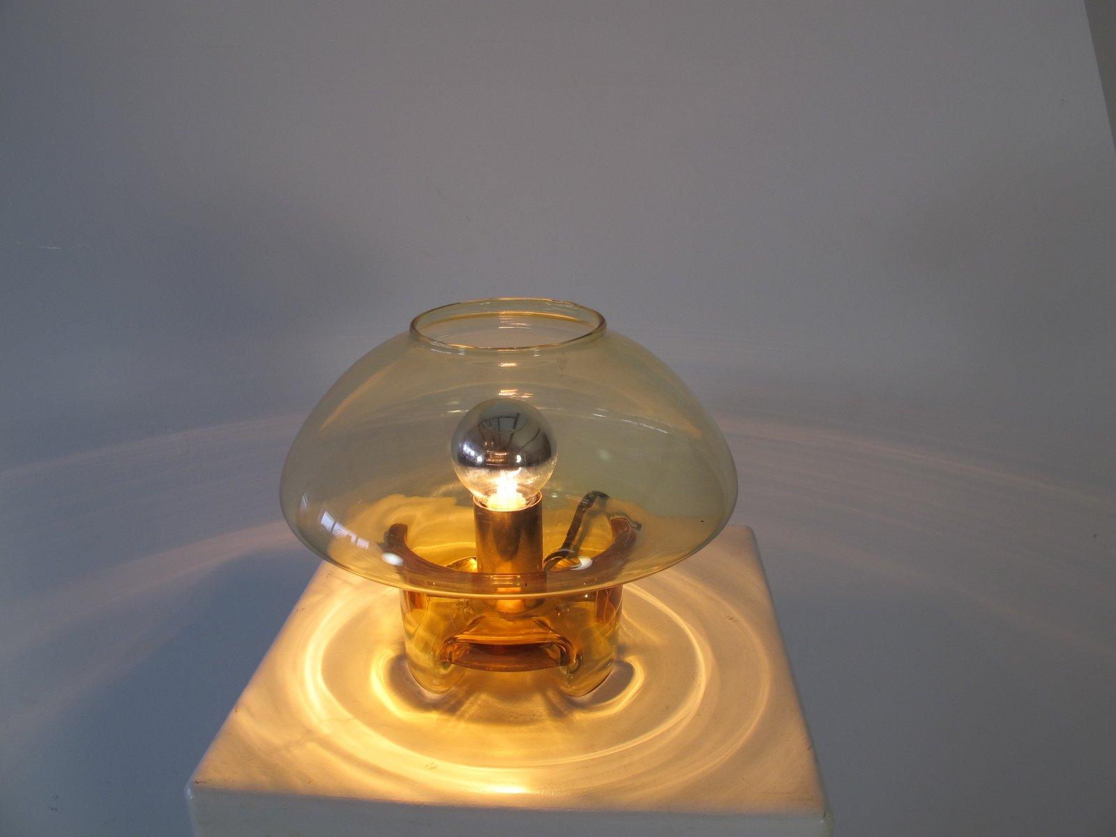 Lampada da tavolo vintage in vetro a forma di fungo di - Lampada da tavolo vintage ...