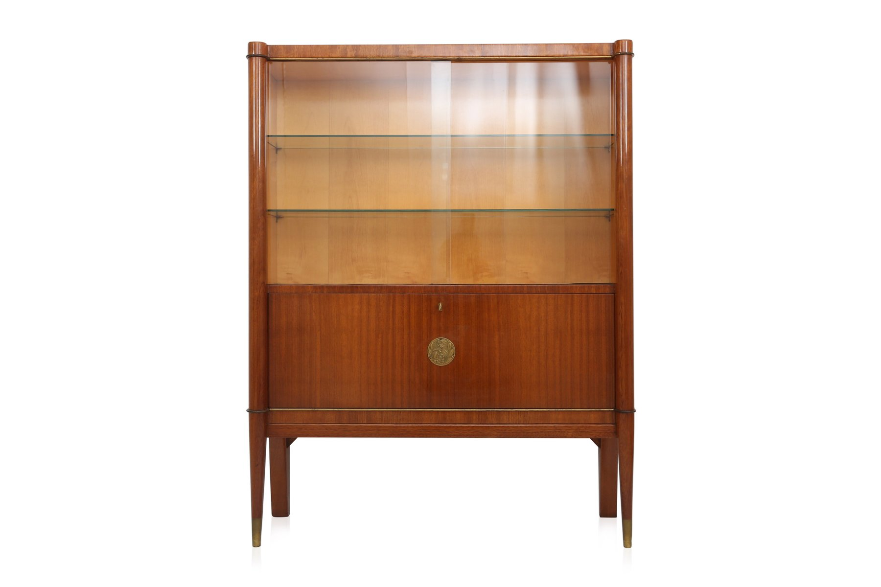 vitrine cabinet from de coene fr res 1950s for sale at pamono. Black Bedroom Furniture Sets. Home Design Ideas