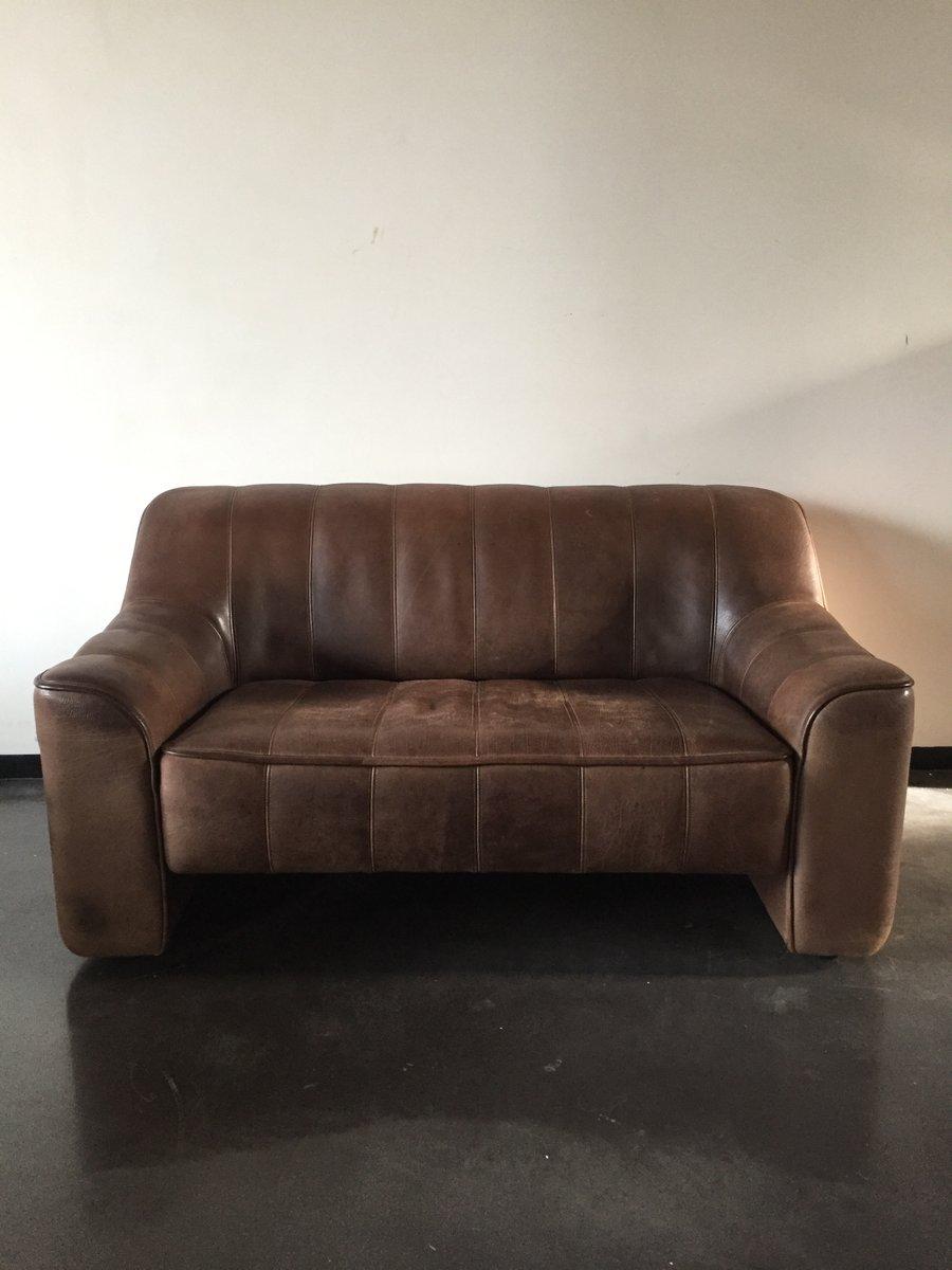 ds44 zwei sitzer sofa von de sede 1970 bei pamono kaufen. Black Bedroom Furniture Sets. Home Design Ideas
