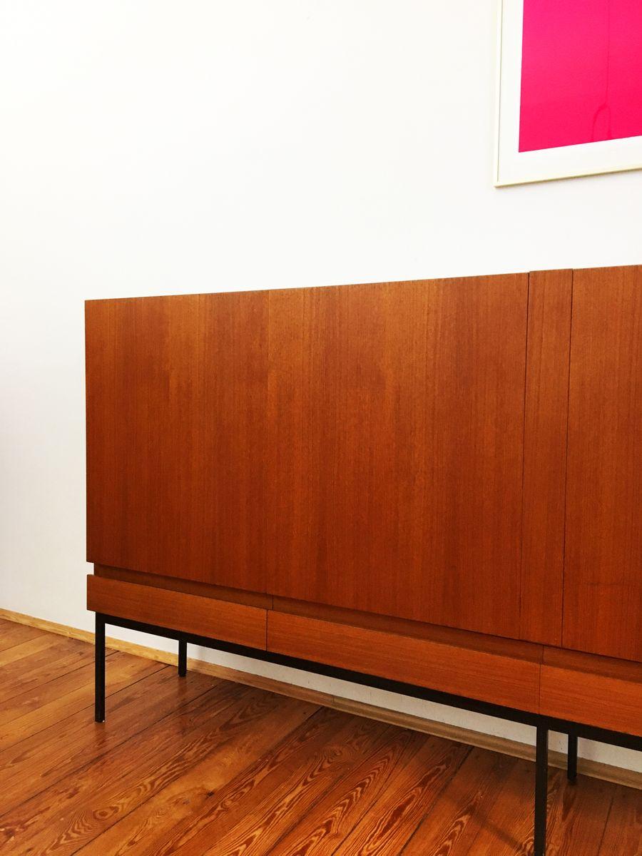 enfilade mid century b60 en teck par dieter waeckerlin pour behr m bel en vente sur pamono. Black Bedroom Furniture Sets. Home Design Ideas