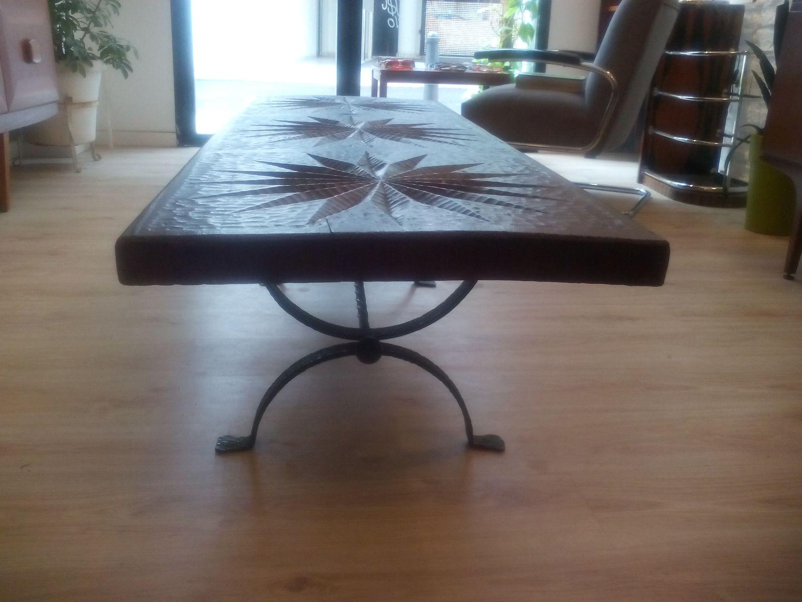 Vintage brutalist table for sale at pamono for Table 52 oak brook