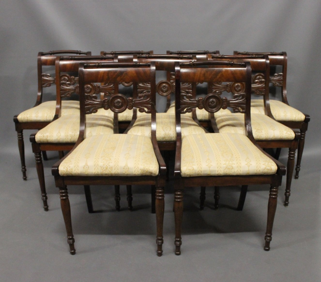 . Antique Danish Chairs  19th Century  Set of 9 for sale at Pamono