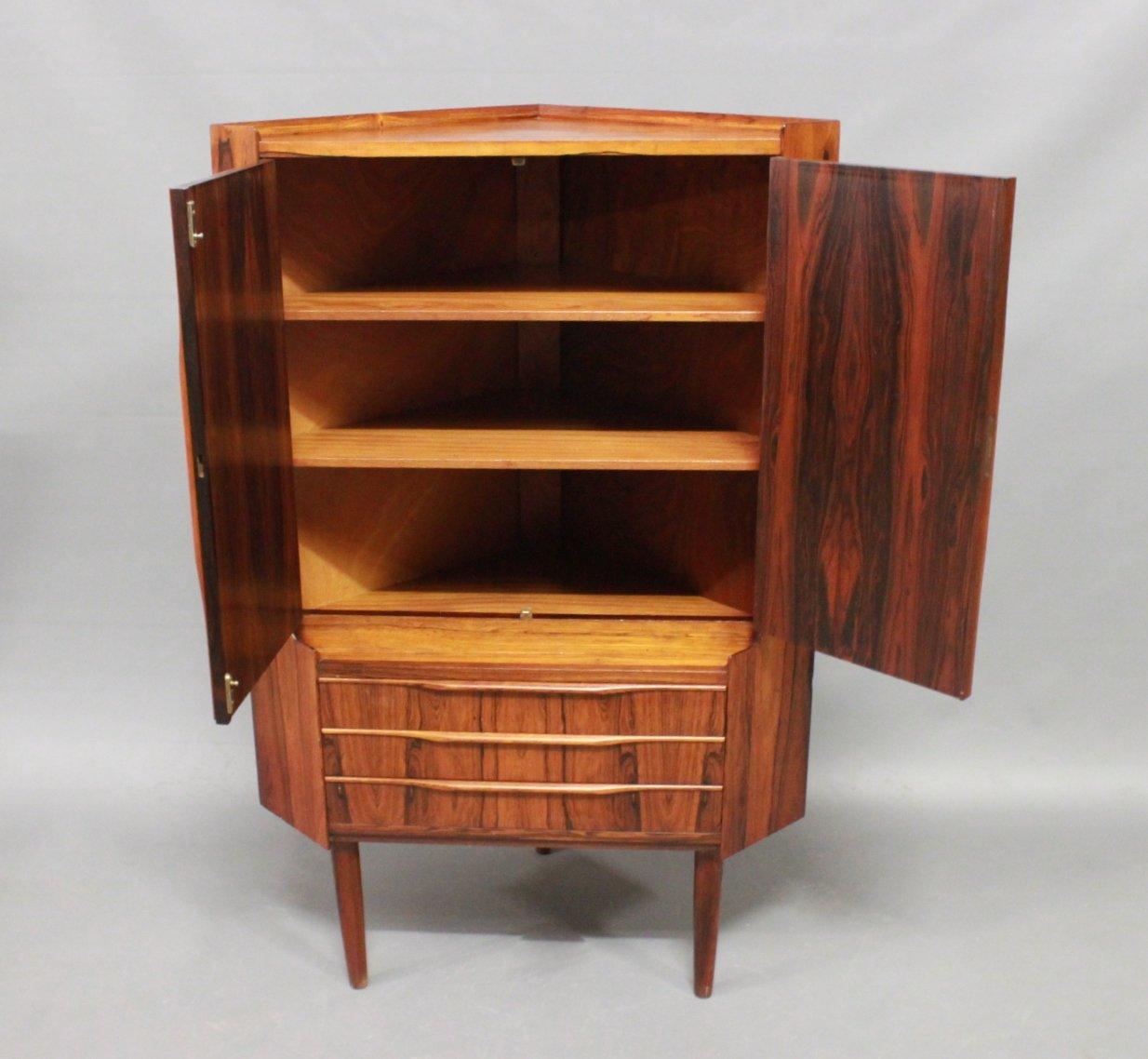 Danish Rosewood Corner Cabinet 1960s 7 1 971 00 Per Piece